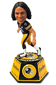 Pittsburgh Steelers Troy Polamalu Bobble Head Clock