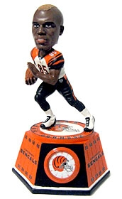 Cincinnati Bengals Chad Johnson Bobble Head Clock