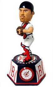 Boston Red Sox Jason Varitek Bobble Head Clock
