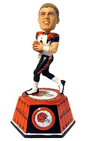 Cincinnati Bengals Carson Palmer Bobble Head Clock