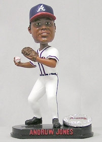 Atlanta Braves Andruw Jones Blatinum Bobble Head