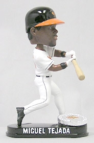 Baltimore Orioles Miguel Tejada Blatinum Bobble Head