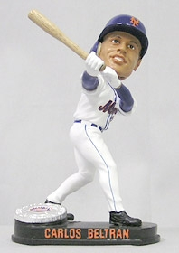 New York Mets Carlos Beltran Blatinum Bobble Head