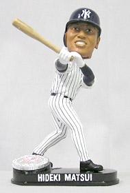 New York Yankees Hideki Matsui Blatinum Bobble Head