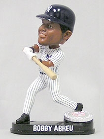 New York Yankees Bobby Abreu Blatinum Bobble Head