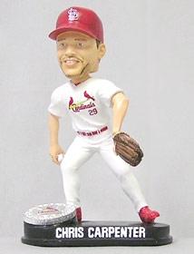 St. Louis Cardinals Chris Carpenter Blatinum Bobble Head