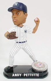 New York Yankees Andy Pettitte Blatinum Bobble Head