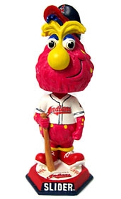 """Cleveland Indians """"Slider"""" Knucklehead Style Bobble Head"""
