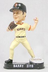 San Francisco Giants Barry Zito Blatinum Bobble Head
