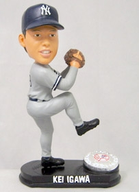 New York Yankees Kei Igawa Blatinum Bobble Head (Road)