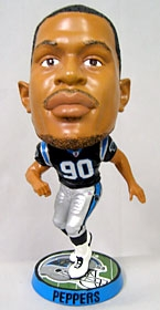 Carolina Panthers Julius Peppers Phathead Bobble Head