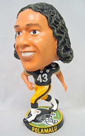 Pittsburgh Steelers Troy Polamalu Phathead Bobble Head