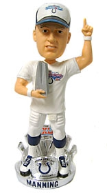 Indianapolis Colts Peyton Manning Super Bowl 41 MVP Bobble Head