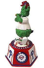 "Philadelphia Phillies ""Phanatic"" Bobble Head Clock"