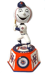 "New York Mets ""Mr. Met"" Bobble Head Clock"