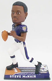 Baltimore Ravens Steve McNair On Field Bobble Head