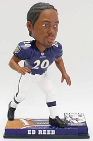 Baltimore Ravens Ed Reed On Field Bobble Head
