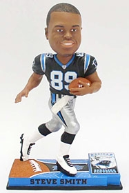 Carolina Panthers Steve Smith On Field Bobble Head