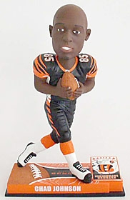 Cincinnati Bengals Chad Johnson On Field Bobble Head