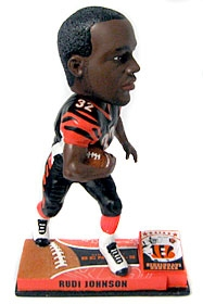 Cincinnati Bengals Rudi Johnson On Field Bobble Head