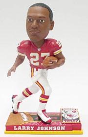 Kansas City Chiefs Larry Johnson On Field Bobble Head
