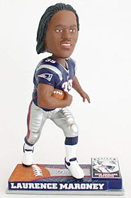 New England Patriots Laurence Maroney On Field Bobble Head