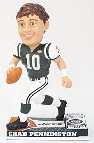 New York Jets Chad Pennington On Field Bobble Head