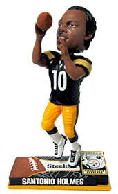 Pittsburgh Steelers Santonio Holmes On Field Bobble Head