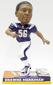 San Diego Chargers Shawne Merriman On Field Bobble Head