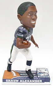 Seattle Seahawks Shaun Alexander On Field Bobble Head