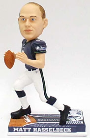 Seattle Seahawks Matt Hasselbeck On Field Bobble Head