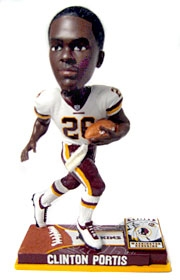 Washington Redskins Clinton Portis On Field Bobble Head