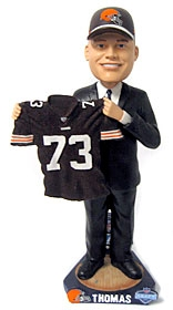 Cleveland Browns Joe Thomas 2007 Draft Pick Bobble Head