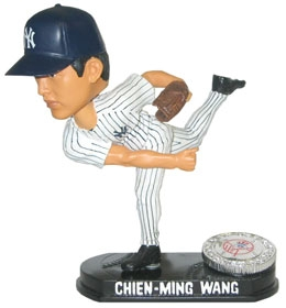 New York Yankees Chien-Ming Wang Blatinum Bobble Head