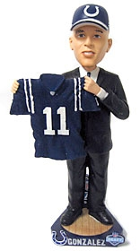 Indianapolis Colts Anthony Gonzalez 2007 Draft Pick Bobble Head
