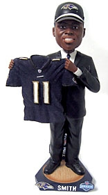Baltimore Ravens Troy Smith 2007 Draft Pick Bobble Head