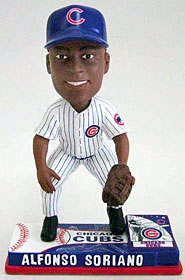 Chicago Cubs Alfonso Soriano On Field Bobble Head