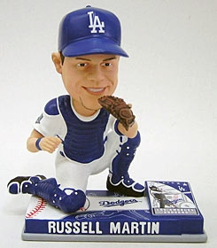 Los Angeles Dodgers Russell Martin On Field Bobble Head
