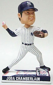 New York Yankees Joba Chamberlain On Field Bobble Head