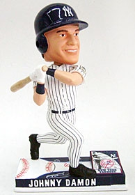 New York Yankees Johnny Damon On Field Bobble Head