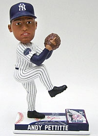 New York Yankees Andy Pettitte On Field Bobble Head