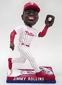 Philadelphia Phillies Jimmy Rollins On Field Bobble Head