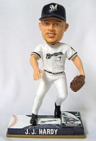 Milwaukee Brewers J.J. Hardy On Field Bobble Head