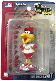 "St. Louis Cardinals ""Fred Bird"" 3.5"" Mini Big Head Bobble Head"