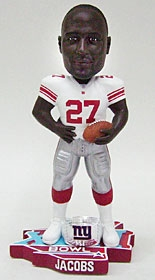 New York Giants Brandon Jacobs Super Bowl 42 Ring Bobble Head