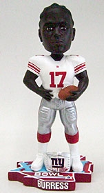 New York Giants Plaxico Burress Super Bowl 42 Ring Bobble Head