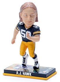Green Bay Packers A.J. Hawk Photo Base Bobble Head