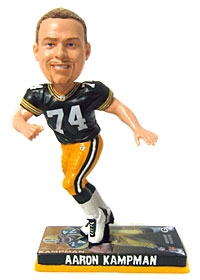 Green Bay Packers Aaron Kampman Photo Base Bobble Head