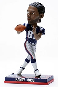 New England Patriots Randy Moss Photo Base Bobble Head