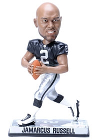 Oakland Raiders JaMarcus Russell Photo Base Bobble Head